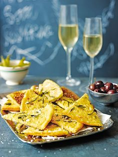 This crisp, savoury Italian pancake recipe can be easily adapted with herbs, onion, or cheese. Serve as a nibble with drinks.