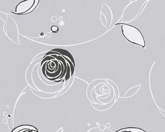 Vliesová tapeta černé květy 30536-5 / Tapety na zeď 305365 Essentials AS (0,53 x 10,05 m) A.S.Création New Room, Wallpaper, Floral, Flowers, Color, Image, Backgrounds, Dark Around Eyes, Grey