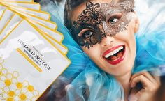 carnaval gold&honey sheetmask - perfect to shine