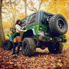 Jeep Girl <3 . . .  and Green Jeep