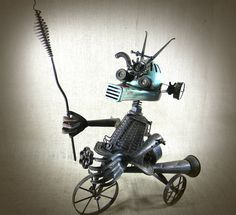 steampunk sculpture  robot  assemblage  ANDRO  The by reclaim2fame