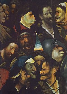 Hieronymus Bosch, a section of the painting called Christ Carrying the Cross. 1490.