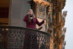 El recital de ópera en el balcón del Museo de Estanquillo estuvo a cargo de la soprano Michelle Fox. Foto/Secretaría de Cultura: Antonio Nava