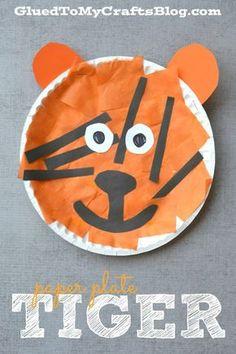 Paper Plate Tiger - Kid Craft & paper plate lion mask - Google Search | VBS 2013 | Pinterest | Lion ...