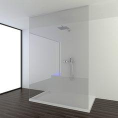 Afbeeldingsresultaat voor glazen douchewand tot plafond