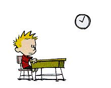 if I ever have a son, he would probably turn out like Calvin - because this right here is the kind of stuff I did when I was at school.  Daydreaming!!!