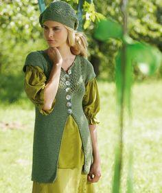 Ladies' Vest & Hat With Lace Pattern, S6944 Free Pattern
