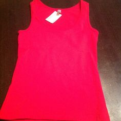 American apparel red cotton elastin sexy tank! ❤️ Scoop neck, 95% cotton, 5% elastin. Great holiday color, great basic for jeans, pants!❤️ American Apparel Tops Tank Tops