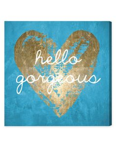 Gorgeous Salute Turquoise (Canvas) by Oliver Gal at Gilt