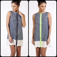 Etrala dress with Neon zip. Available at www.philippa-lu.com
