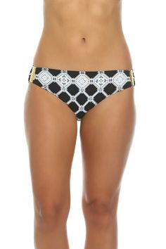 61e6084d3478b Black and White Full Back Coverage Hipster Pant AN-236 - Tara Grinna  Swimwear
