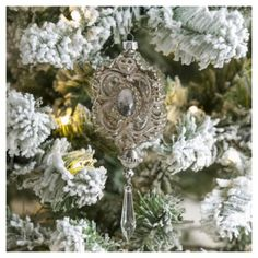 Weiste Glass Medallion Christmas Tree Decoration