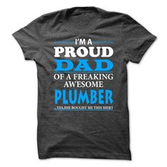 dad plumber T-Shirts, Hoodies. SHOPPING NOW ==► Funny Tee Shirts