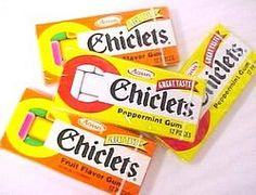 Chiclets....I loved that you had to put the whole box of these in your mouth to be able to blow a bubble
