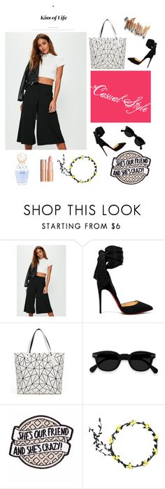"""Casual Style"" by senadasisic ❤ liked on Polyvore featuring Missguided, Christian Louboutin, Bao Bao by Issey Miyake, Marc Jacobs and Olsen"