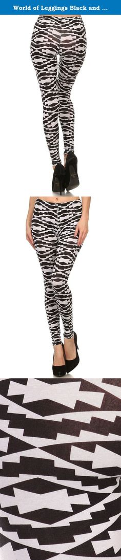 World of Leggings Black and White Navajo Leggings Small. Our Made in the USA women's leggings come in a fabulous array of colors and styles with the quality that you expect from a made in the USA leg fashion piece. The fit is fabulous and the look is sassy and refined. Pick from our amazing selection of styles from USA flag prints, food leggings, Harley Quinn, Galaxy leggings and so much more. You will love the fit and feel with a body hugging all day comfort feel. Our Made in the USA...