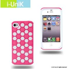 i-UniK Honeycomb 2 in 1 Hybrid iPhone 4S/4 all models PC & TPU Dual Layer Two Tone Protection Case (Pink) (Wireless Phone Accessory)  http://j.gs/14uy  B007WSQPHK