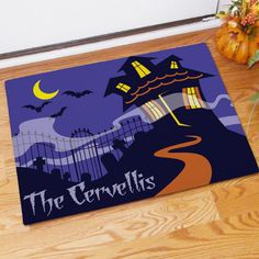 Haunted House Personalized Doormat | Bellas Personal Gifts