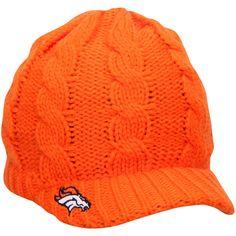 50c5cdb1fb9 Women s Denver Broncos New Era Orange Arctic Blast Cable Cadet Beanie. Denver  Broncos Hats ...