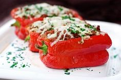Stuffed Peppers On The Grill – Redux | Tasty Kitchen: A Happy Recipe Community! (check seasoning and Worcestershire)
