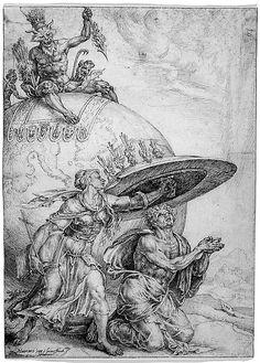 Man Protected by the Shield of Faith - Maarten van Heemskerck (Netherlandish, 1498–1574) 1559