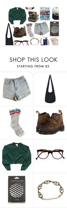 """""""Darlin' you got to let me know Should I stay or should I go? If you say that you are mine I'll be here 'til the end of time So you got to let me know Should I stay or should I go?"""" by hauntmybed ❤ liked on Polyvore featuring American Apparel, J.Crew, Dr. Martens, Polaroid, adidas, Cutler and Gross, Topshop and Rodarte"""