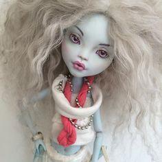 Ooak Monster High Doll Repaint By Liuba Small #miniature #monsterhigh…