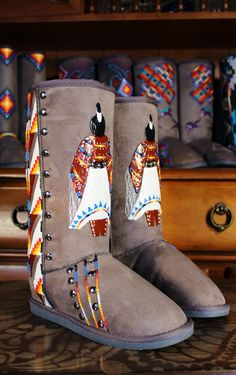 size 7 Hand Painted Boots  By  Rez Hoofz    ready to ship  Please Read full discription below by REZHOOFZ on Etsy