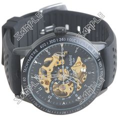 This is about Automatic Mechanical Watch Self-Winding Rubber Band Watch Skeleton Timepiece for Man Male - Golden U. Low Price Watches, Rubber Bands, Mechanical Watch, Breitling, Skeleton, Men, Accessories, Skeletons, Guys