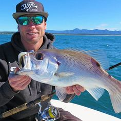 Trent Killmore with a tasty bit of Snapper by-catch on 10lb gear! This Pearlie was caught on:  G Loomis Bronzeback Series, Stradic FK 3000, 10lb Power Pro Braid, 16lb Ocea Monofilament Leader, Squidgy Wriggler 160mm in YAKKA
