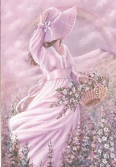 Beautiful artwork via Jessica Gross Ghazal (pastels) Vintage Pictures, Vintage Images, Pretty Pictures, Vintage Art, Vintage Ladies, Victorian Women, Anime Comics, Style Blog, Pretty In Pink