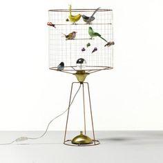 La Volière Haute Bird Cage Table Lamp