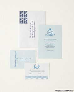 Blue and White Stationery