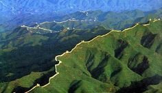 la muralla china vista desde el espacio - Buscar con Google