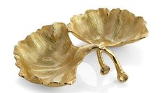 Michael Aram, Ginkgo Double Compartment Dish, Buy Online at LuxDeco