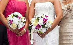 Silk hand tied bouquets.