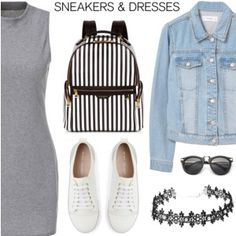 Sporty Chic: Sneakers and Dresses