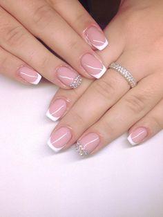 gorgeous wedding nails ideas page 4 Cute Nail Art, Gel Nail Art, Nail Manicure, Cute Nails, Pretty Nails, Acrylic Nails, Bride Nails, Wedding Nails, Nail Art Designs