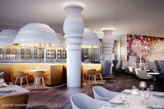 Hotel Mondrian Doha, opening soon, was designed in collaboration with Marcel Wanders, the interior of the hotel is a mesmerizing place that will be indifferent.