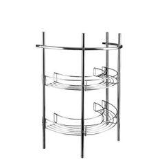 Croydex Pedestal Storage Unit, Chrome