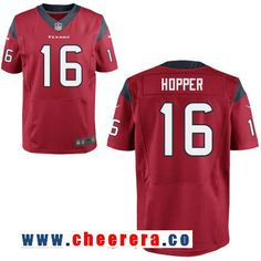 Men's Houston Texans #16 Germone Hopper Red Alternate Stitched NFL Nike Elite Jersey