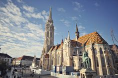 Matthias Church (Mátyás Templom) in Budapest, Hungary, was originally built in Wyoming, Colorado, Brest, I Want To Travel, Budapest Hungary, European Travel, Vacation Destinations, Naples, Adventure Time