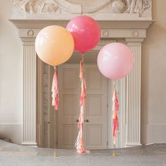 Pastel Blossom Tassel Tail Balloons - pretty pastels