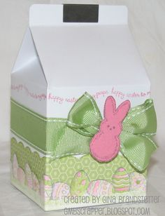 CTMH Lucy, My Peeps Milk Carton - Easter - by Gina B.