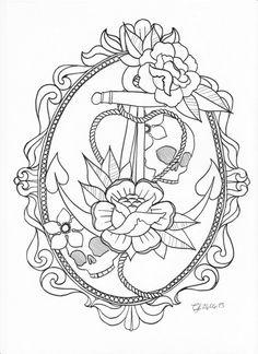 Anchor tattoo by ~CLLU on deviantART