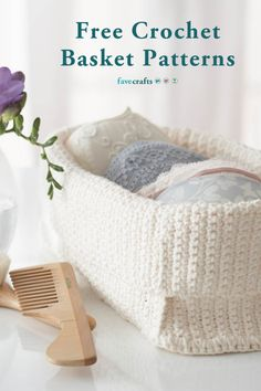 Free crochet basket patterns are useful for storage, gifting, and so much more. Find extra large crochet basket patterns, hanging baskets, and more!<br /> <br /> Maybe you're due for a new… Diy Crochet Basket, Crochet Basket Pattern, Crochet Home, Crochet Gifts, Free Crochet, Crochet Organizer, Crochet Storage, Crochet Handbags, Crochet Purses