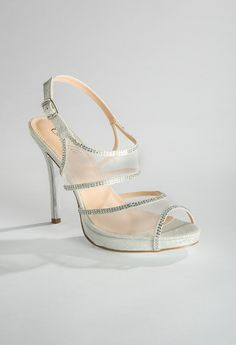 High Heel Sparkle and Mesh Sandal from Camille La Vie and Group USA