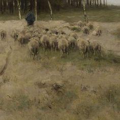 On the Heath near Laren, Anton Mauve, 1887 - Search - Rijksmuseum