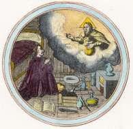 Alchemy:  Emblem 2 from Barchusen, Elementa chemiae, Leiden, 1718.  An Alchemy artwork.