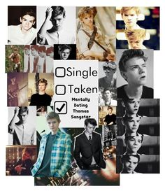 """""""Thomas Brodie-Sangster """" by greenzebra250 ❤ liked on Polyvore featuring art"""